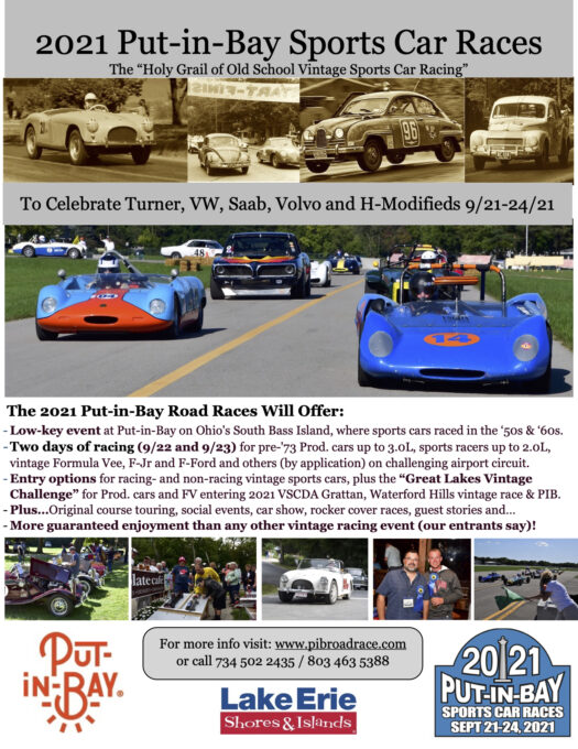 Put-In-Bay Sports Car Races 2021 Flyer