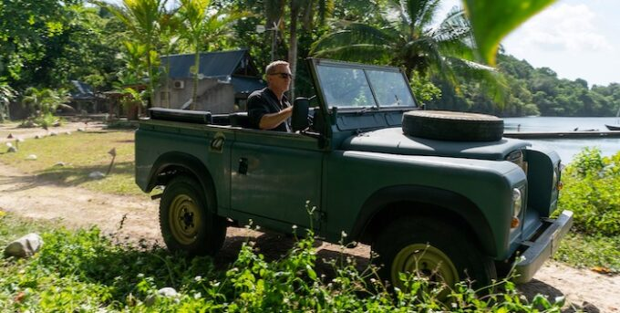 Bond in Motion No Time to Die Land Rover Series III 2021 DANJAQ LLC AND MGM. ALL RIGHTS RESERVED