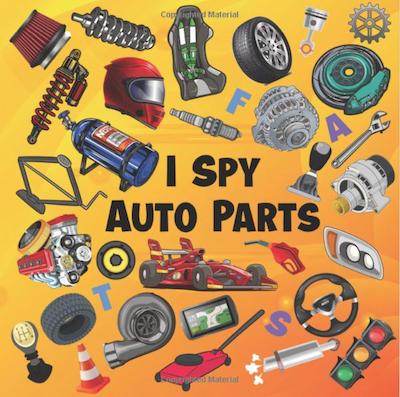 I Spy Auto Parts ABC Picture Puzzles Book For Future Race Car Drivers Car Parts Book For Kids Children