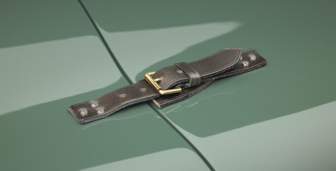 Jaguar C-type continuation Bonnet Strap