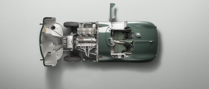 Jaguar C-type continuation Overhead Bonnet Door Open