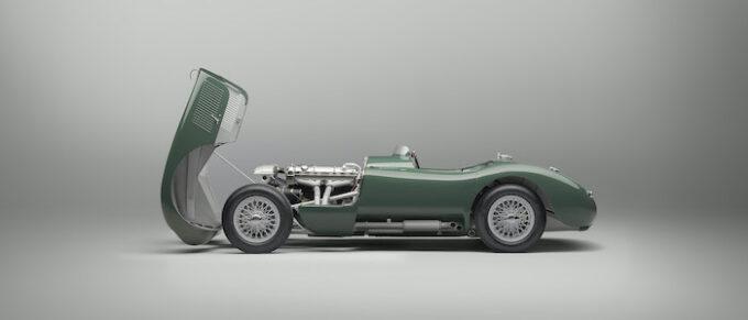 Jaguar C-type continuation Profile Bonnet Open