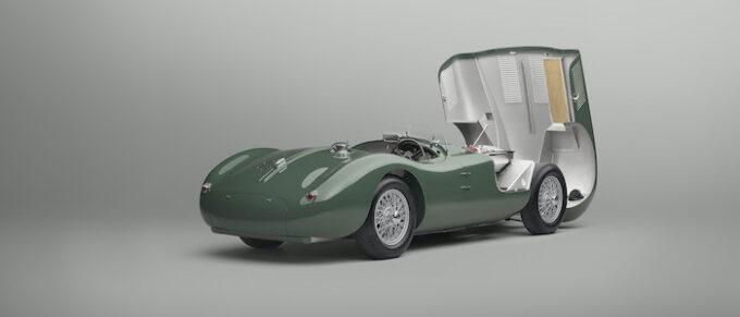 Jaguar C-type continuation Rear 34 Bonnet Open