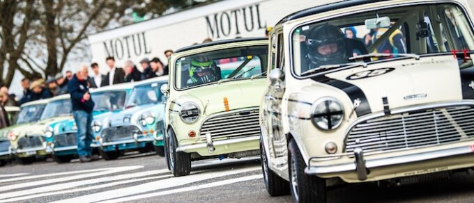 Mighty Minis at Goodwood John Whitmore Trophy photo by Jayson Fong