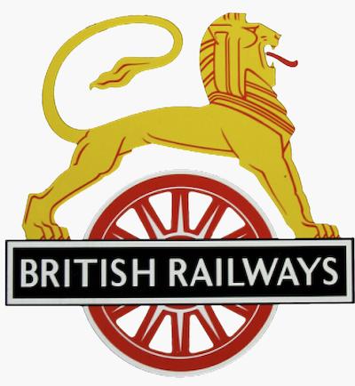 British Railway Lion on Bicycle Emblem