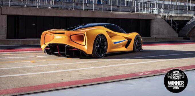 Lotus Evija photographed at Silverstone for News UK awards