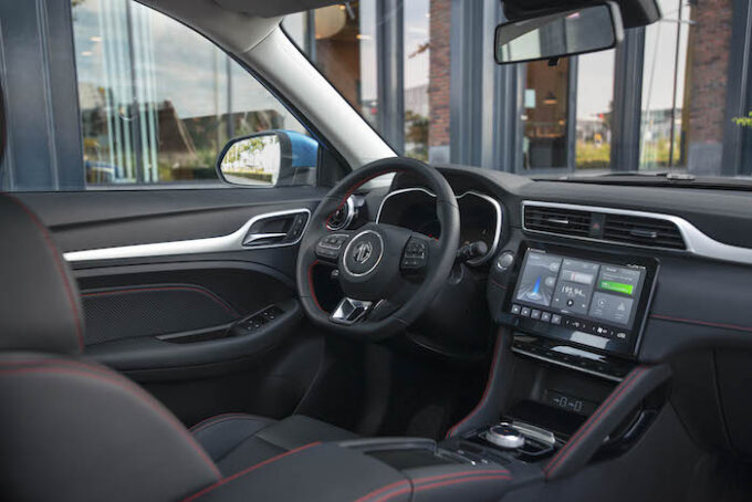 MG ZS EV dashboard overview