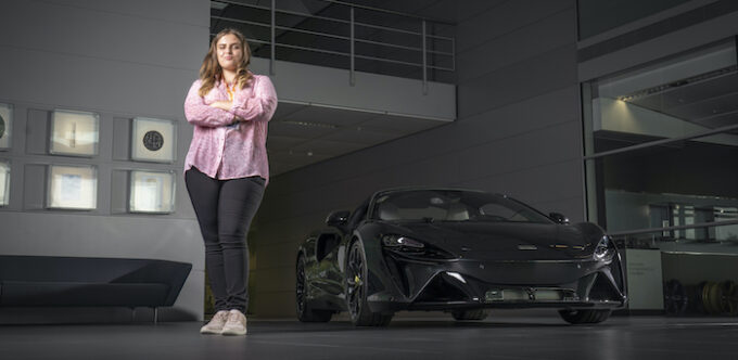 Plan International youth activist Maisy becomes McLaren Automotive CEO for the day to mark International Day of the Girl 6